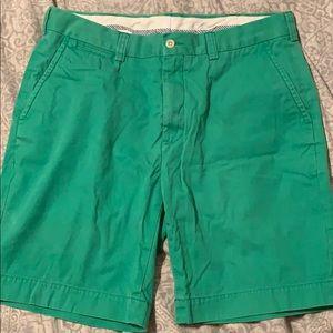 Polo Shorts. Size 34. Green.